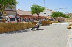 Motorcycle Street Racing stock photography