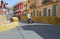 Motorcycle Street Racing stock photo