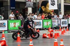 Motorcycle stunt Stock Image