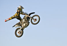 Motorcycle Stunt Stock Photo