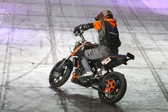 Motorcycle Stunt Show Stock Images