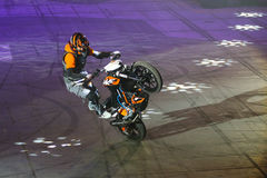 Motorcycle Stunt Show Royalty Free Stock Photos