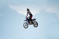 Motorcycle Stunts Royalty Free Stock Images