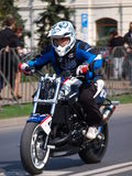 Motorcycle stunts, Lublin, Poland Royalty Free Stock Photo