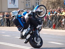 Motorcycle stunts, Lublin, Poland Royalty Free Stock Photos