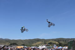 motorcycle stunts Stock Photos