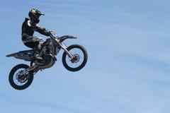 motorcycle stunts Stock Photography