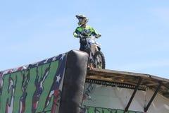 motorcycle stunts Stock Image