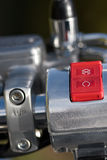 Motorcycle Switch. Red motorcycle ignition switch and cut off Royalty Free Stock Images