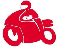 Motorcycle symbol. On white background Stock Photo