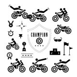 Motorcycle symbol Stock Images