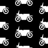 Motorcycle symbol seamless pattern Stock Photo