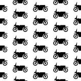 Motorcycle symbol seamless pattern Stock Photography
