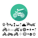 Motorcycle symbol Stock Photography