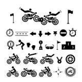 Motorcycle symbol Stock Image