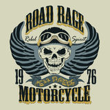 Motorcycle T-shirt Design vector illustration Royalty Free Stock Image