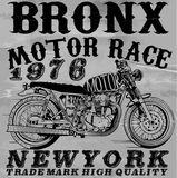Motorcycle T shirt graphic design. Royalty Free Stock Images
