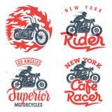 Motorcycle prints set 001 Stock Photos