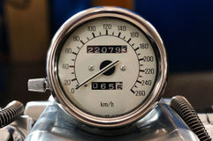 Motorcycle tachometer. Stock Image