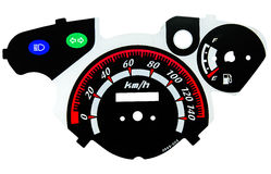 Motorcycle tachometer Royalty Free Stock Photo