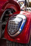 Motorcycle tail lights.  royalty free stock images