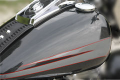 Motorcycle tank. New motorcycle tank with cloud reflection Stock Image