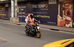 Motorcycle taxi, Bangkok, Thailand Royalty Free Stock Image