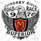 Motorcycle Tee Graphic. Fashion style royalty free illustration
