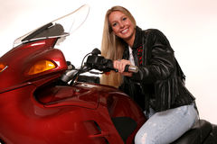 Motorcycle teen straight Stock Photography