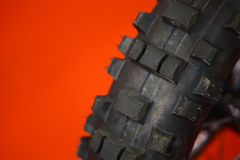 Motorcycle tire Stock Images