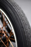 Motorcycle tire Royalty Free Stock Photography