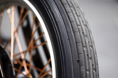 Motorcycle tire Royalty Free Stock Photo