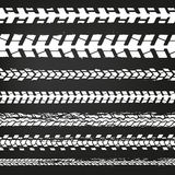 Motorcycle Tire Tracks-02. Motorcycle tire tracks vector illustration. Grunge automotive background element useful for poster, print, flyer, book, booklet Royalty Free Stock Photography