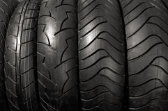 Motorcycle Tires Stock Image