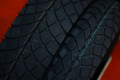 Motorcycle tires Royalty Free Stock Images