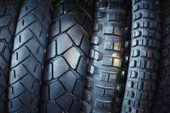 Motorcycle tires Stock Photos