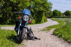 Motorcycle tourer taking a break Stock Image