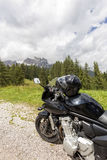Motorcycle tourism in the mountains Royalty Free Stock Photos