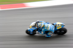 Motorcycle on track Royalty Free Stock Photos