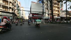 Motorcycle traffic in Ho Chi Minh city. Is located in the South of Vietnam stock video