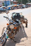 Motorcycle on Traffic road of Cambodia at Poipet Royalty Free Stock Images
