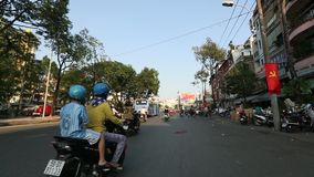 Motorcycle traffic in Saigon. stock video footage