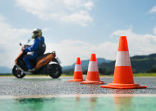 Motorcycle training school Stock Photography