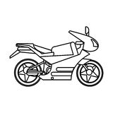 Motorcycle transport image outline Royalty Free Stock Image