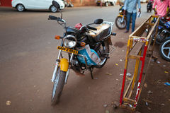 Motorcycle transport in India. Goa Royalty Free Stock Image