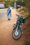 Motorcycle transport in India. Goa Stock Photos