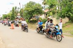 Motorcycle transportation in Manokwari Royalty Free Stock Photos