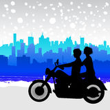 Motorcycle travel Royalty Free Stock Photos
