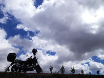 Motorcycle travel Stock Photography