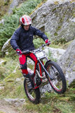 Motorcycle Trials Rider. Royalty Free Stock Images